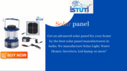 Solar Panel Manufacturers   Solar Panel For Home   Istuti