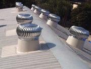 Rooftop wind ventilator